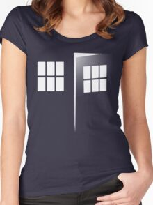 Police Call Box Women's Fitted Scoop T-Shirt