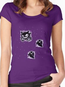 Haunter, Ghosts and such purple Women's Fitted Scoop T-Shirt