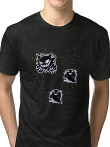 Haunter, Ghosts and such purple Tri-blend T-Shirt