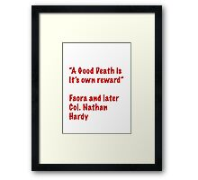 A Good Death Framed Print