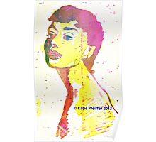 Aura  of Audrey Hepburn Poster