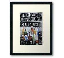 Bourbon Roadie Gig Poster - Clydes 06-07-2013 Framed Print
