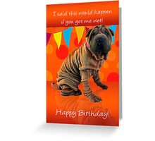 Fun Shar Pei Birthday Card With Birthday Humor Greeting Card