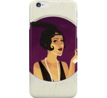 Vintage flapper girl iPhone Case/Skin