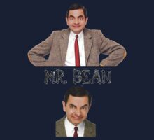 Mr. Bean - The Faces One Piece - Long Sleeve