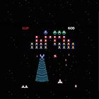 Galaga iPhone Case by TheTubbyLife