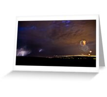Double Lightshow Greeting Card