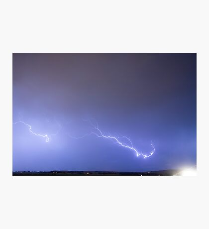 Lightning Bolts Coming In For A Landing Photographic Print