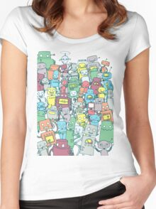 Robot Party Women's Fitted Scoop T-Shirt