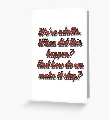 Meredith Grey - Adults Greeting Card