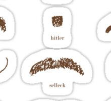 Famous Facial Hair Styles Chart number II Sticker