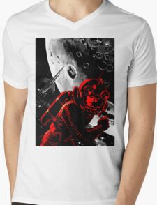 Reds in Space Mens V-Neck T-Shirt