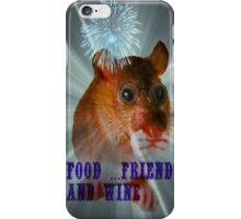 food ...friends and wine iPhone Case/Skin