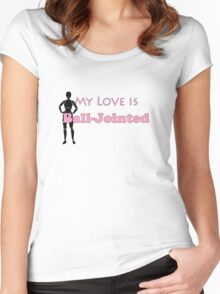 My Love is Ball-jointed - Pink Women's Fitted Scoop T-Shirt