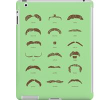 Famous Facial Hair Styles Chart number II iPad Case/Skin
