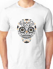 Sugar Skull SF -  on white Unisex T-Shirt