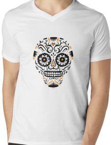 Sugar Skull SF -  on white Mens V-Neck T-Shirt