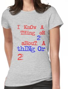 thing or 2 Womens Fitted T-Shirt