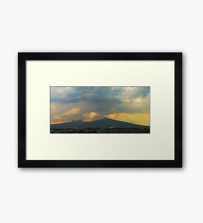 ©HCS Helicopter Path Framed Print