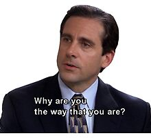 michael scott quote why are you the way you are  by michaelcera