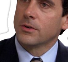 michael scott quote why are you the way you are  Sticker
