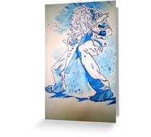 Heavy Blue Metal Greeting Card