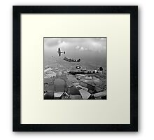 Spitfire sweep B&W version Framed Print