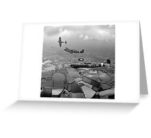 Spitfire sweep B&W version Greeting Card