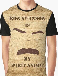 Ron Swanson is my Spirit Animal Graphic T-Shirt
