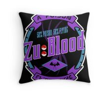 Zu Blood Throw Pillow