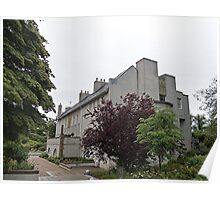 House For An Art Lover, Front & Side Elevation Poster