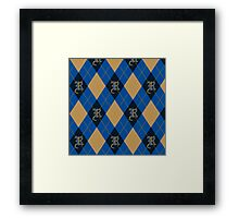 Ravenclaw Argyle Framed Print