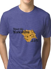 Tour de Yorkshire 2015 Route Tri-blend T-Shirt