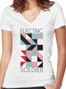 Electric Soldier: Porygon Women's Fitted V-Neck T-Shirt