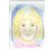 Young Girl - Pencil Portrait Poster