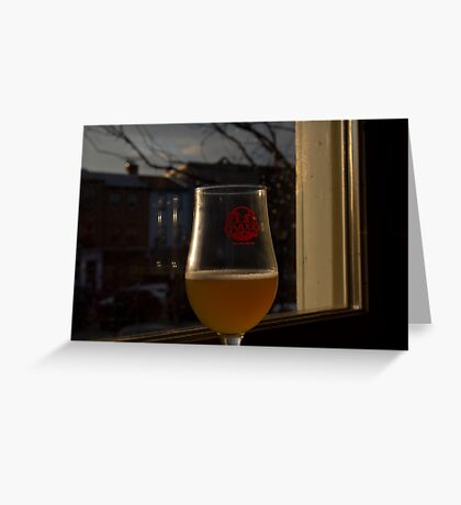 A Beer in Fells Point Greeting Card