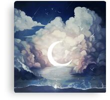 upon the sky-foam. Canvas Print