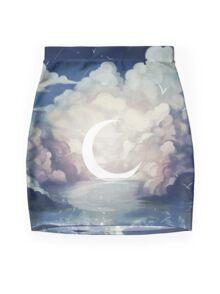 upon the sky-foam. Mini Skirt