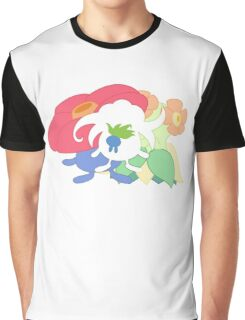Oddish - Gloom - Vileplume + Bellossom Graphic T-Shirt