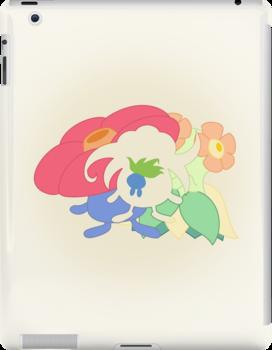 Oddish - Gloom - Vileplume + Bellossom by lomm