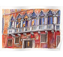 Venice Colourful Facade Poster
