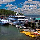 USA. Maine. Bar Harbor. Cruise Ships. by vadim19