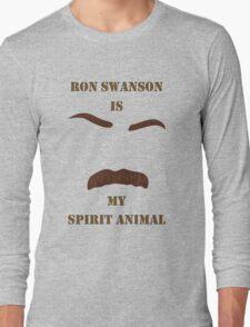 Ron Swanson is my Spirit Animal Long Sleeve T-Shirt