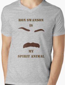 Ron Swanson is my Spirit Animal Mens V-Neck T-Shirt