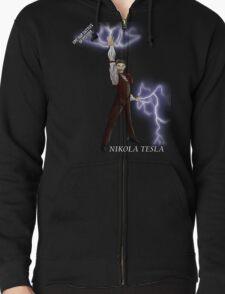 Epic Rap Battles - Nikola Tesla Zipped Hoodie