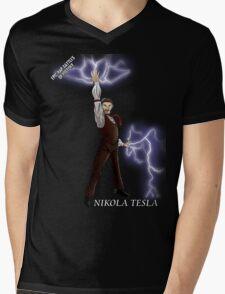 Epic Rap Battles - Nikola Tesla Mens V-Neck T-Shirt