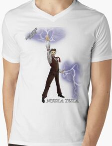 Epic Rap Battles - Nikola Tesla Mens V-Neck T-Shirt