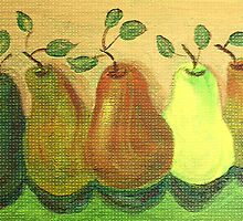 Pears Still Life Painting by TrevorStar