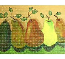 Pears Still Life Painting Photographic Print