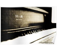 Antique Piano Poster